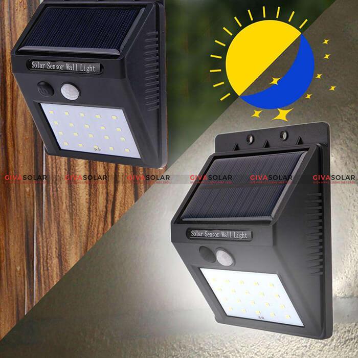 đèn treo tường năng lượng mặt trời 3