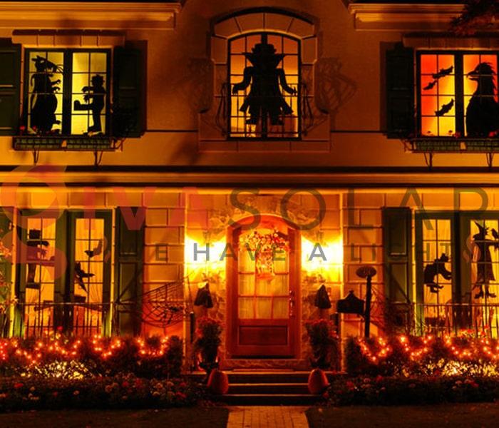 Mẹo sử dụng đèn trang trí Halloween ngoài trời an toàn 1