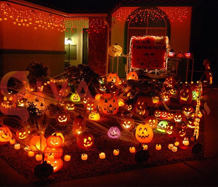 Mẹo sử dụng đèn trang trí Halloween ngoài trời an toàn 2