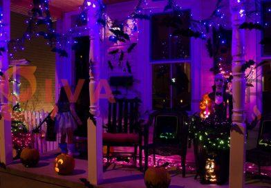 Mẹo sử dụng đèn trang trí Halloween ngoài trời an toàn