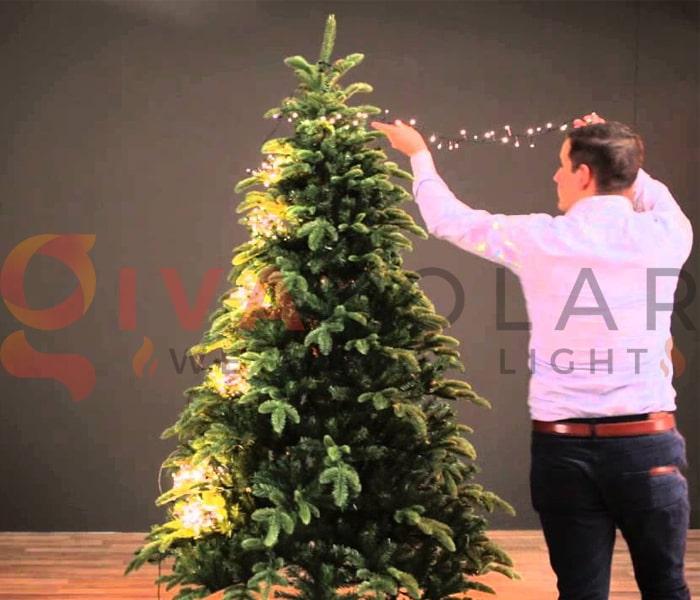 Hướng dẫn trang trí đèn cây thông Giáng Sinh 5