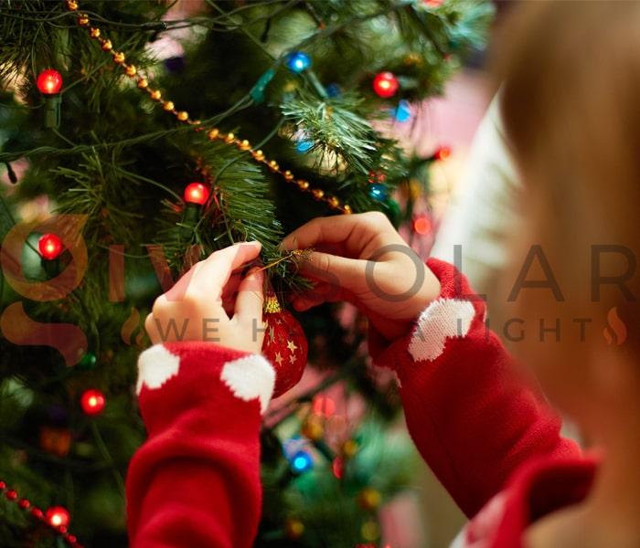 Hướng dẫn trang trí đèn cây thông Giáng Sinh 8