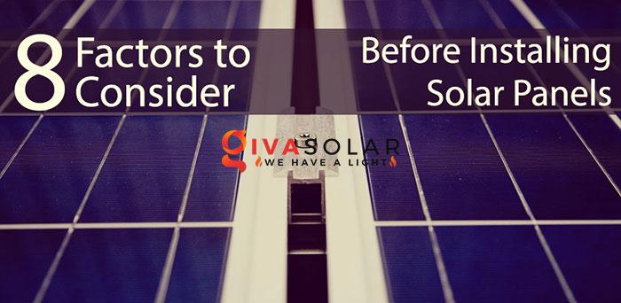 8 yếu tố cần xem xét trước khi lắp đặt tấm pin mặt trời 1
